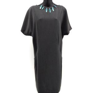 MarcJacobs Gray Shift Dress Dolan Sleeves Pockets